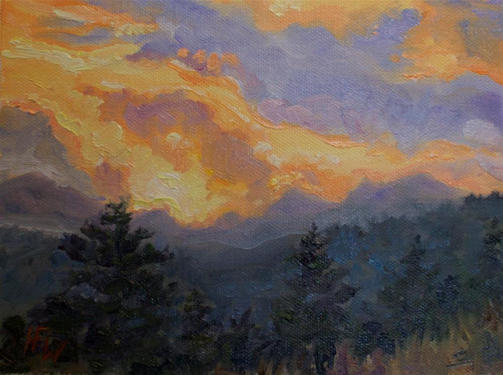 """Sunset Over the Divide"" original fine art by H.F. Wallen"