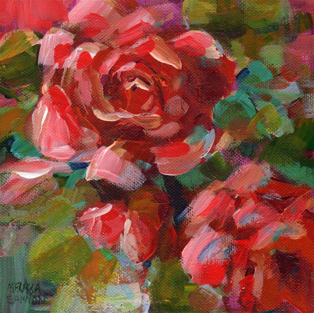 """Rose Impressions"" original fine art by Melissa Gannon"