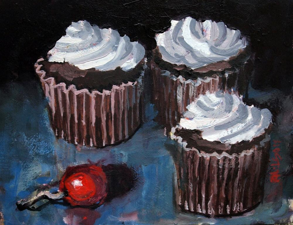 """Cupcakes and Cherry"" original fine art by Rick Nilson"