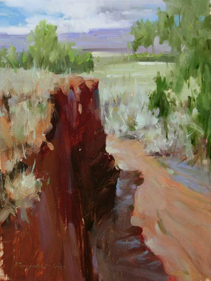 """Southwest Landcape"" original fine art by Fongwei Liu"