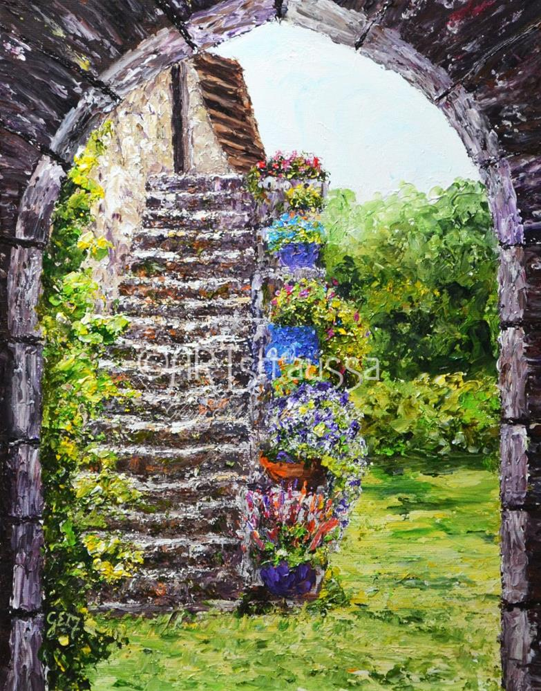 """Bandouille Steps"" original fine art by Gloria Ester"