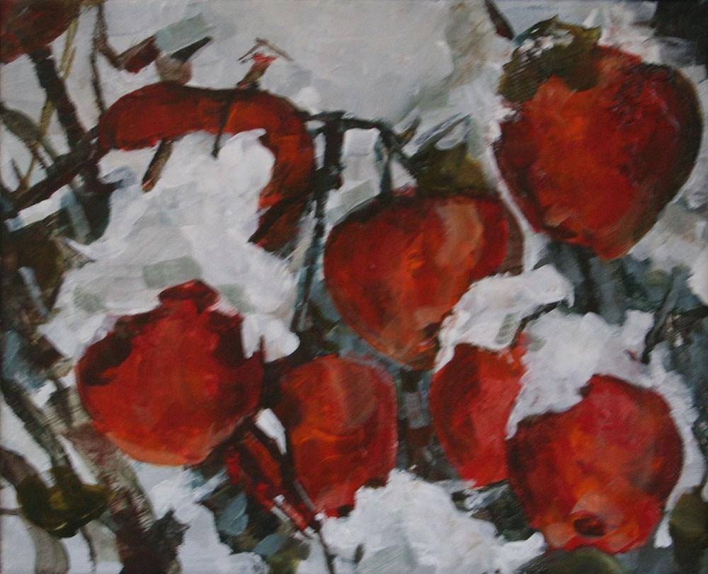 """The First Snow"" original fine art by Cheryl Williams Dolan"