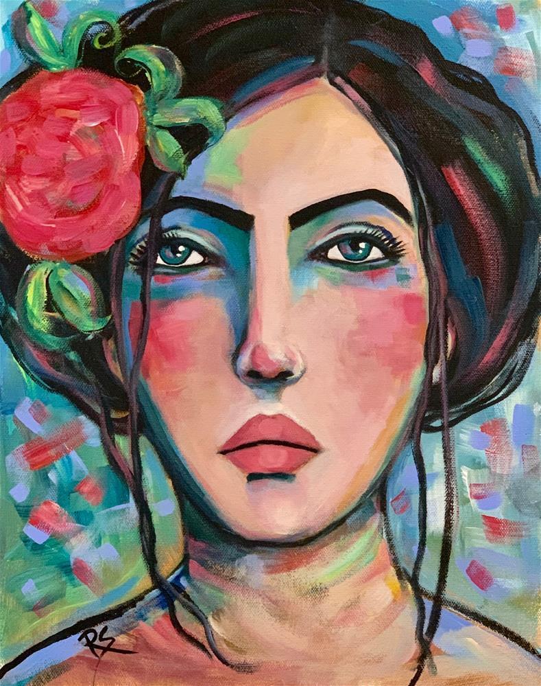 """Keeping My Heart Safe"" original fine art by Roberta Schmidt ArtcyLucy"