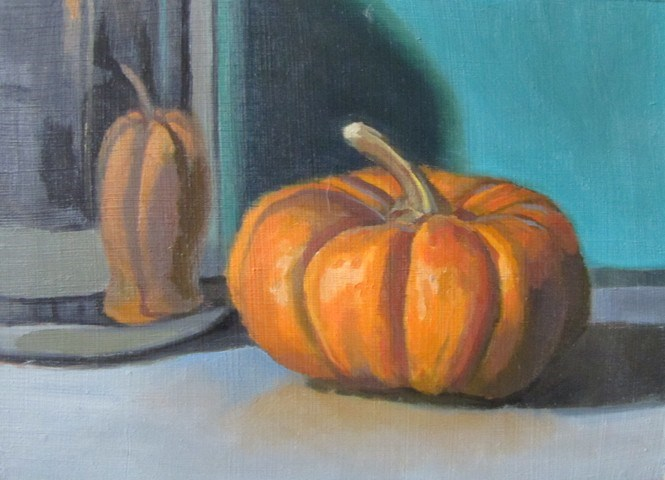 """34 - Pumpkin"" original fine art by Edward Watson"