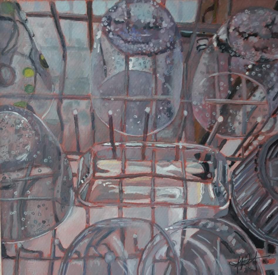 """Fifty Shades of Gray"" original fine art by Jennifer Krentz"