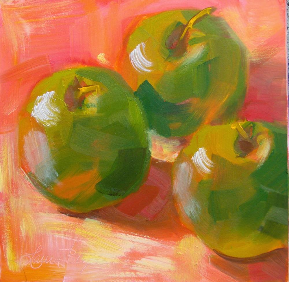 """Green Apples"" original fine art by Laura  Buxo"