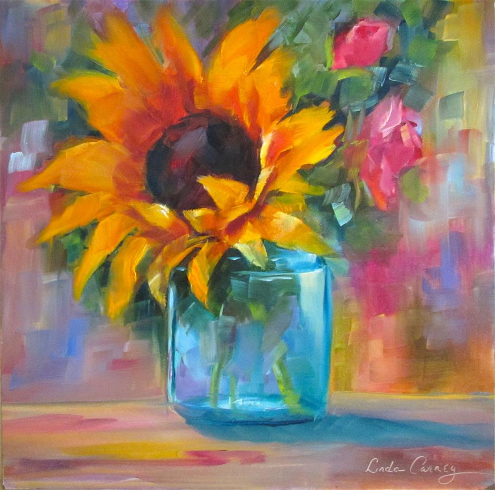 """Jar of Sunshine"" original fine art by Linda Carney"