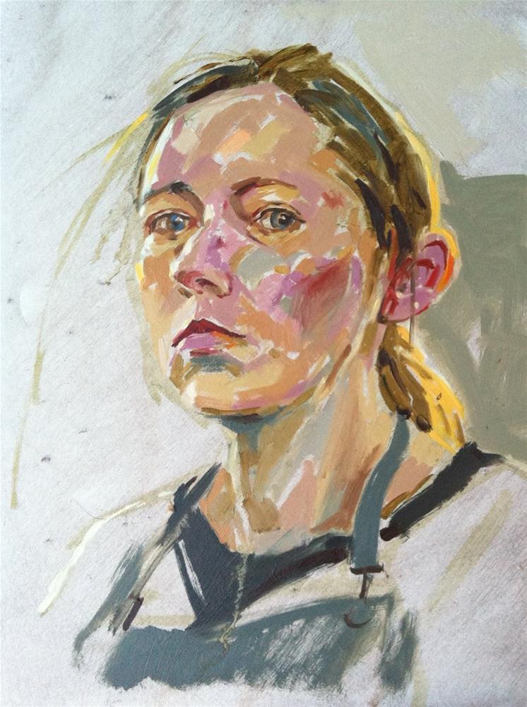 """Self portrait with warm backlighting"" original fine art by Haidee-Jo Summers ROI"