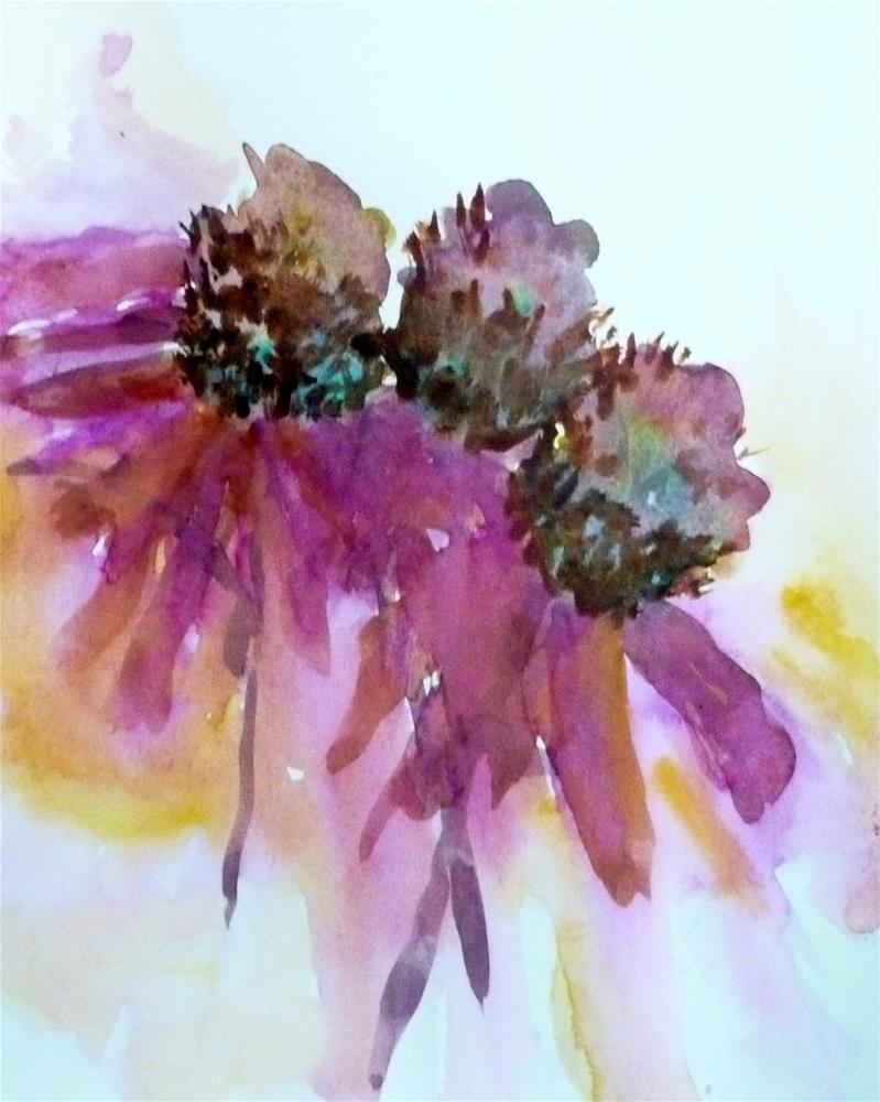 """Happy Flowers"" original fine art by Cathy Dykstra"