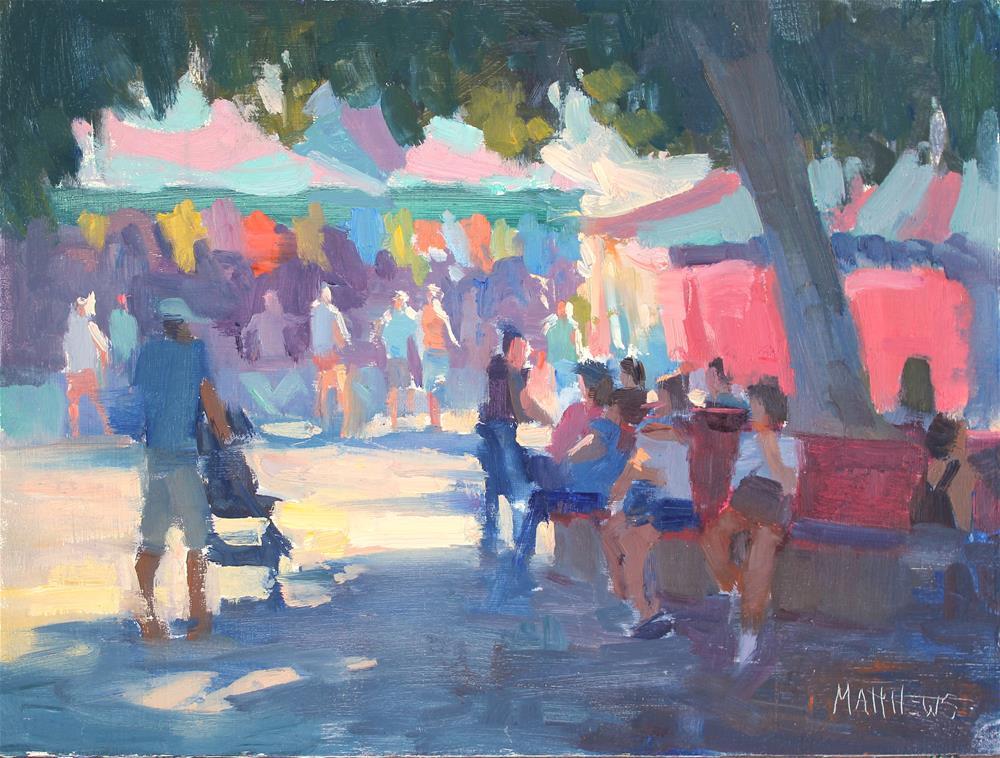"""""""The Spirit of the Fair"""" original fine art by Kristian Matthews"""