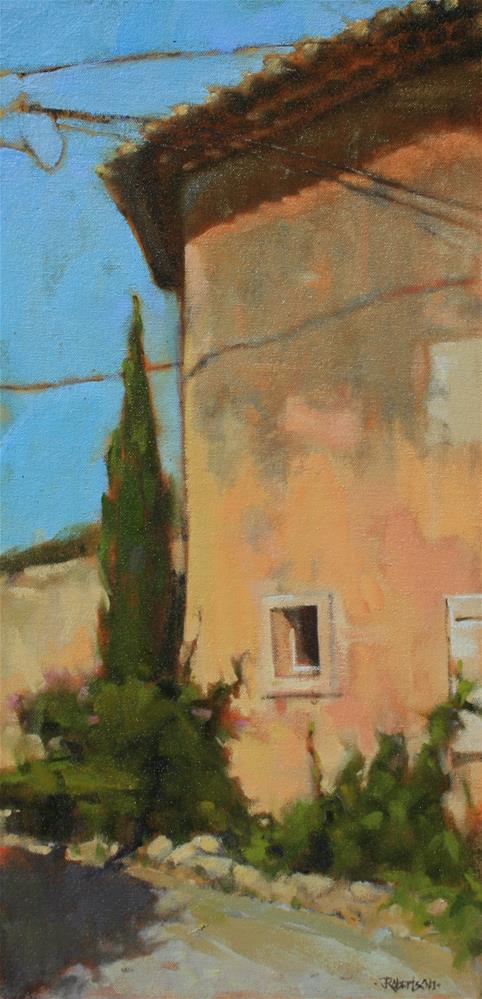 """Village House at Les Bassacs I"" original fine art by Jane Robertson"