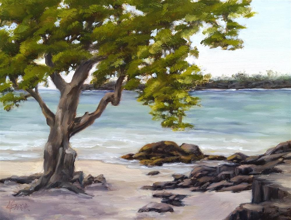"""Beach Tree"" original fine art by Jeannie Garcia"