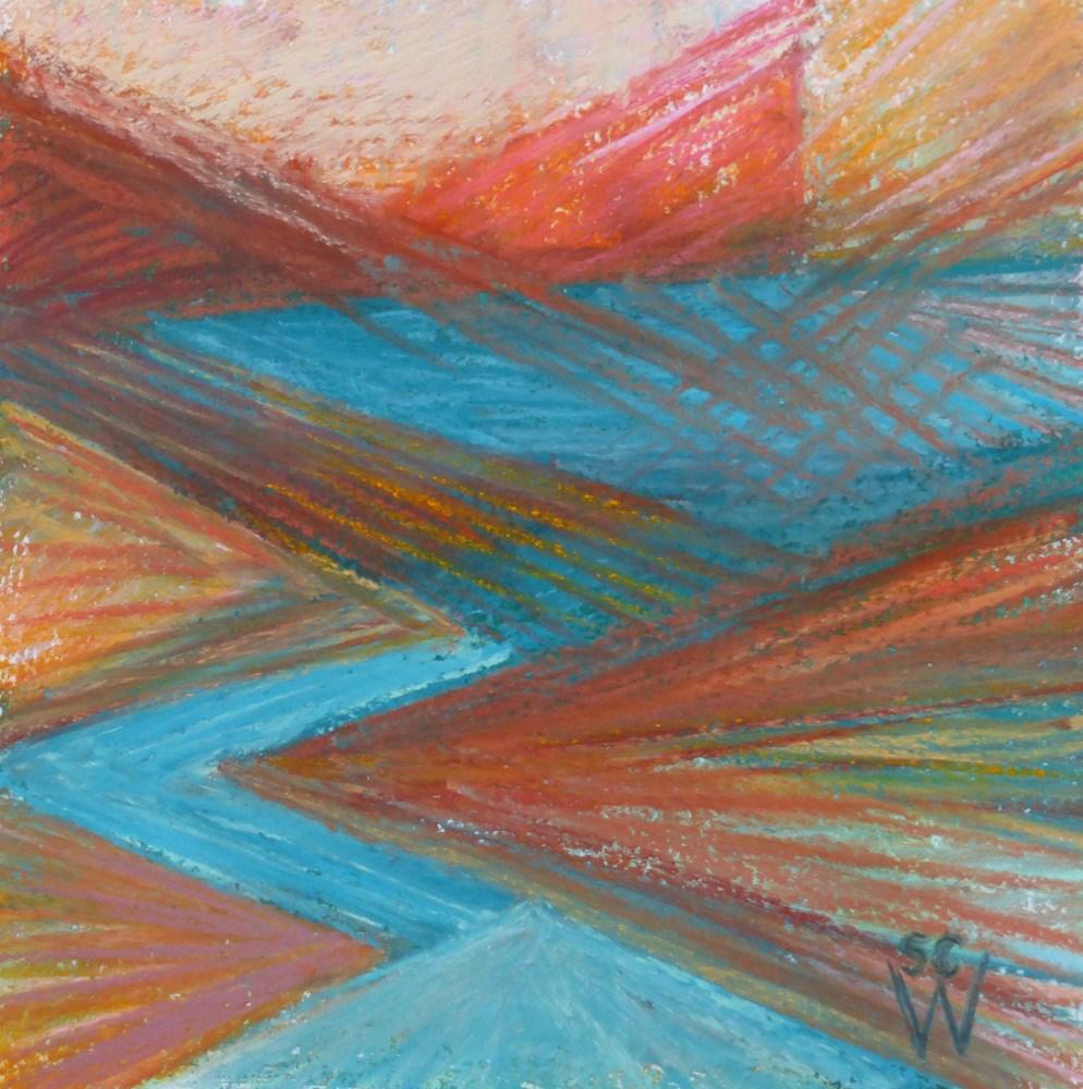 """Lost River"" original fine art by Susan Woodward"