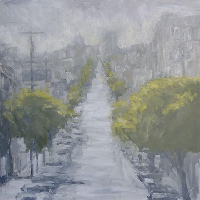 """""""West on Grove IV"""" original fine art by J. Farnsworth"""
