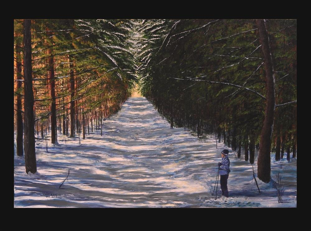 """""""The Cathedral at Tree Farm Trail"""" original fine art by Captain B Smith"""