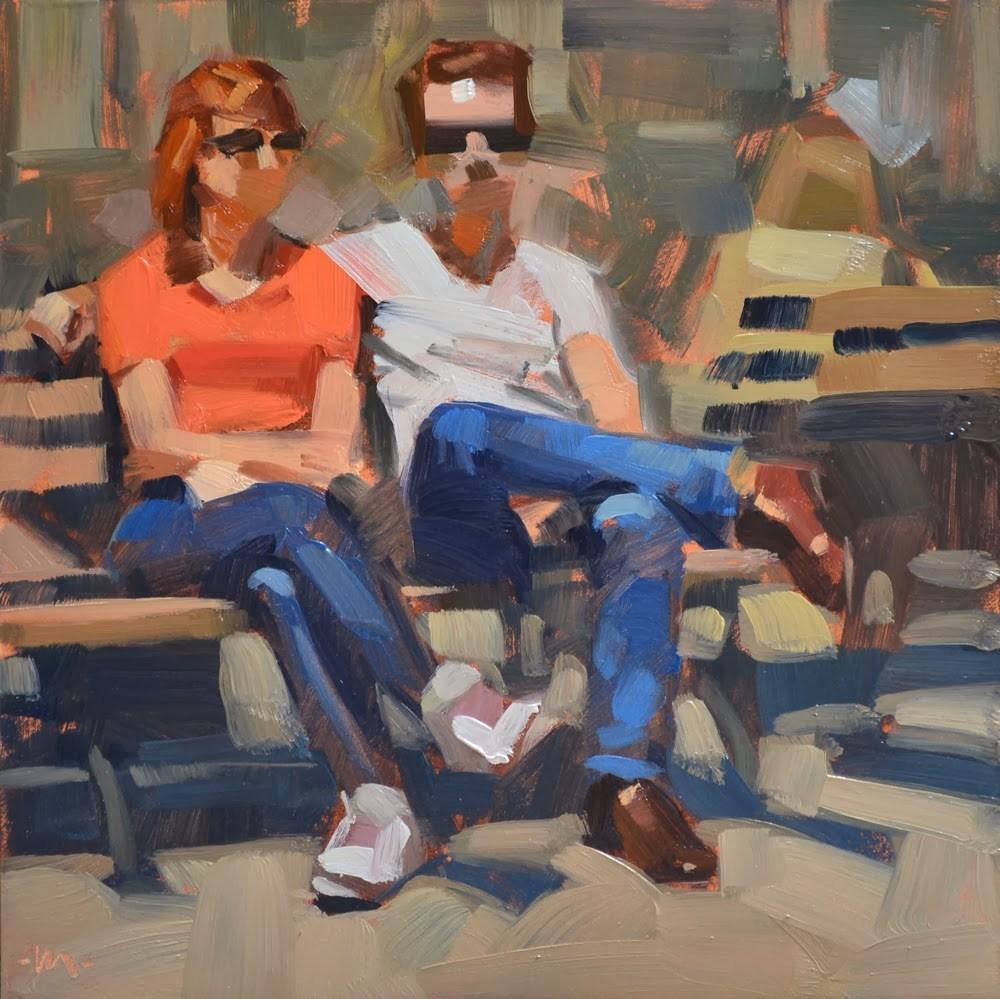 """Too Cool For School"" original fine art by Carol Marine"