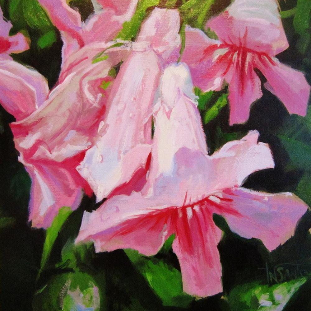 """Wet petals"" original fine art by Víctor Tristante"