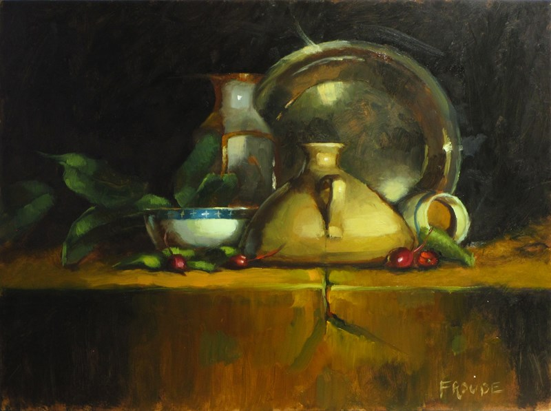 """""""White bowl"""" original fine art by Dave Froude"""