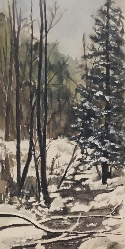 """Snow on the pine"" original fine art by Betty Argiros"