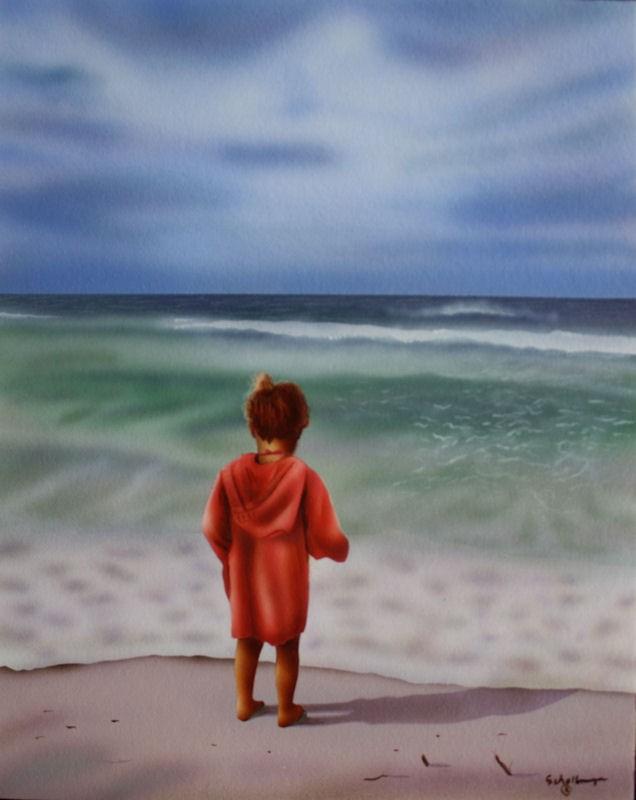 """Before the Rain"" original fine art by Fred Schollmeyer"
