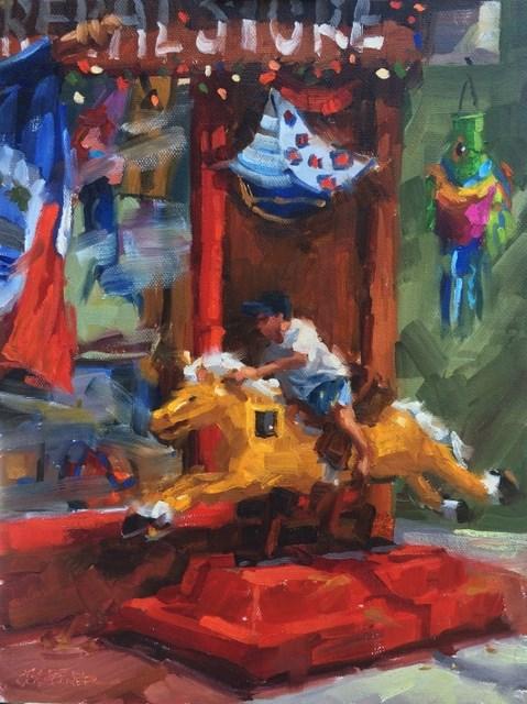 """""""Balboa Bronco"""" original fine art by Karen Werner"""