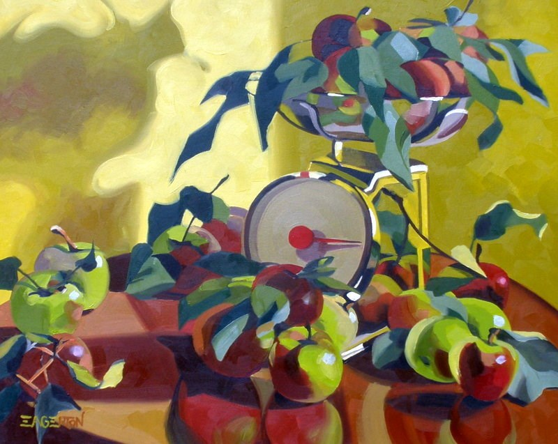 """Fall Apple Picking"" original fine art by Leigh-Anne Eagerton"