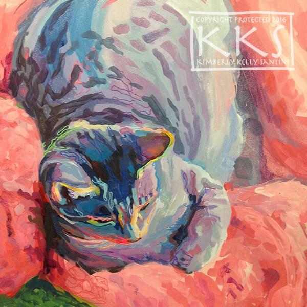 """Mona's Nest, In Process"" original fine art by Kimberly Santini"