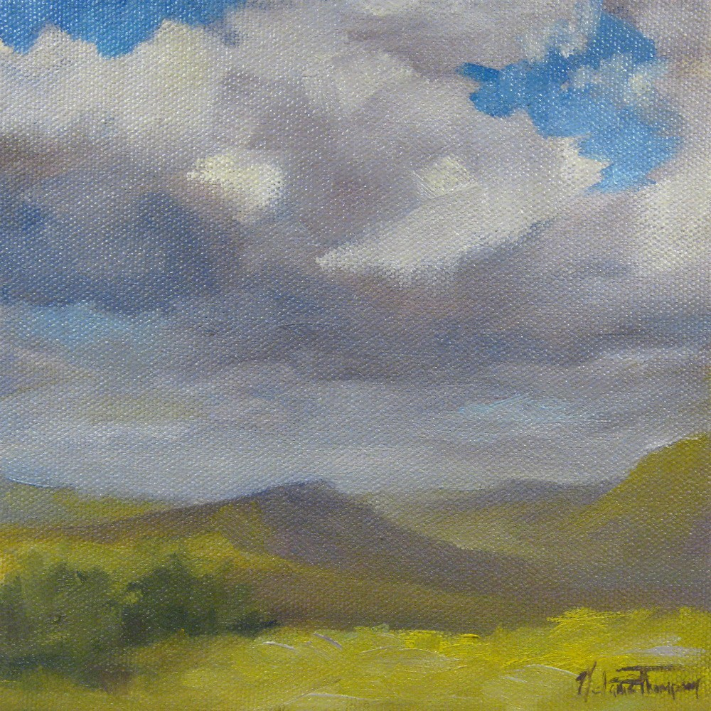 """""""On The Way Out"""" original fine art by Melanie Thompson"""