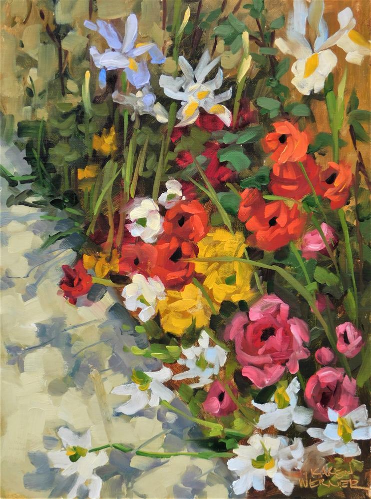 """""""Spring Shadows"""" original fine art by Karen Werner"""