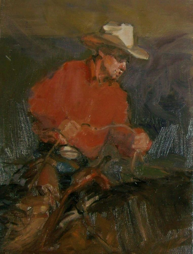 """Lone Rider"" original fine art by Kim Roberti"