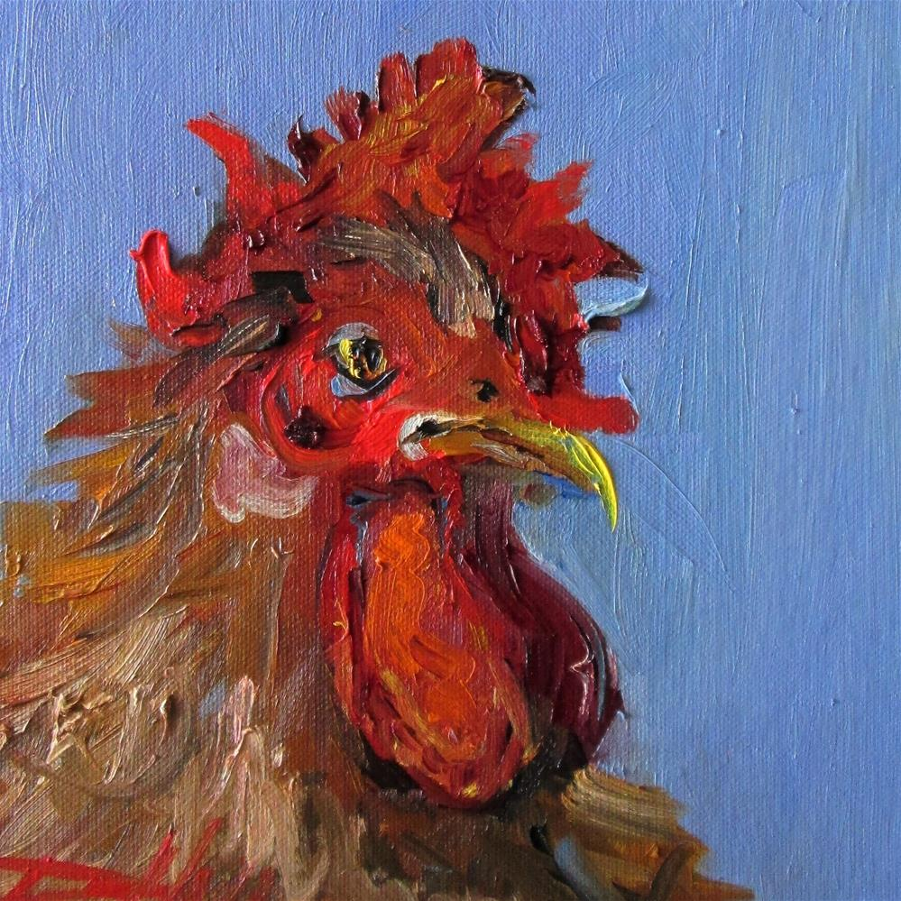 """Rooster No. 30"" original fine art by Delilah Smith"