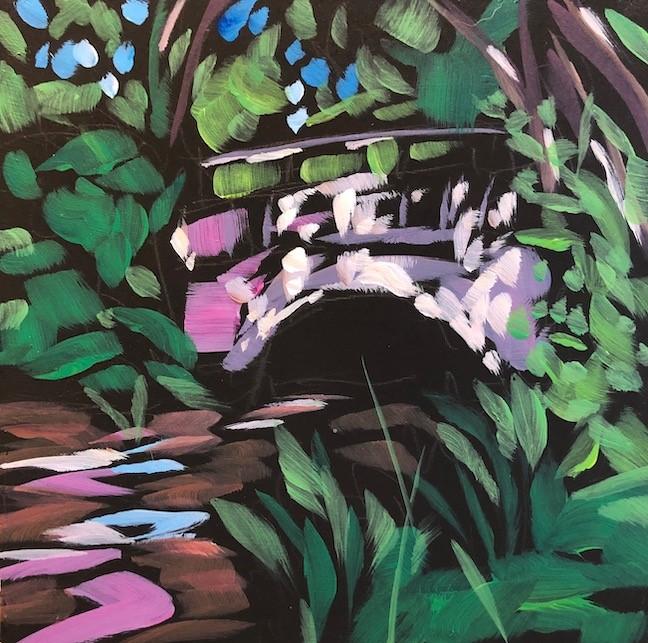 """Creek By Nokomis St"" original fine art by Kat Corrigan"