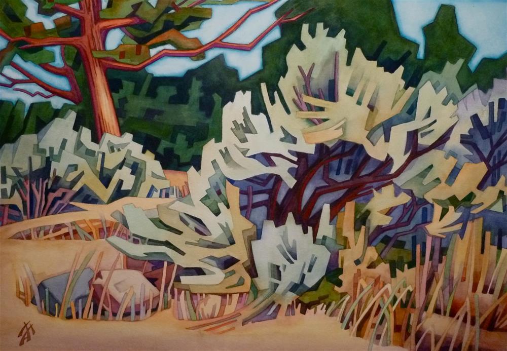 """""""Sage & Pine"""" original fine art by Mark Allison"""