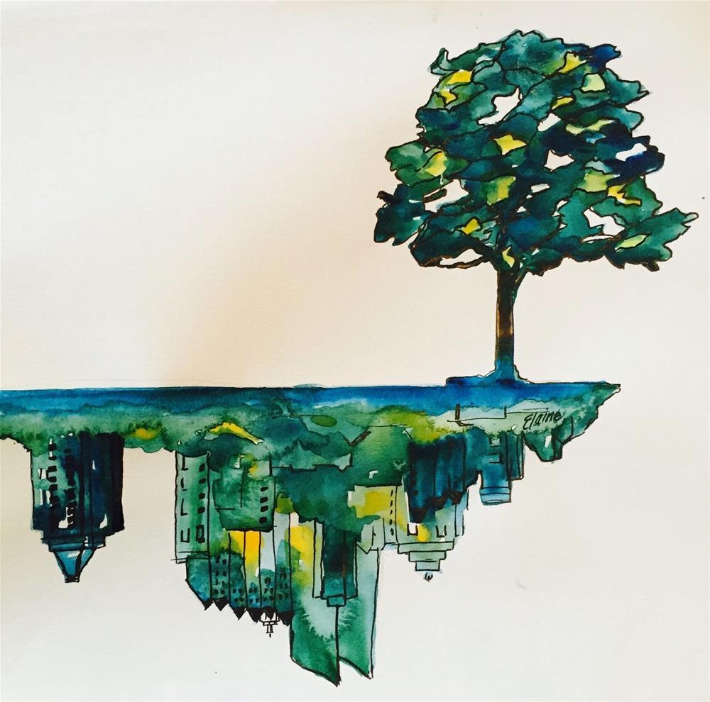 """Growing Atlanta"" original fine art by Elaine Ford"