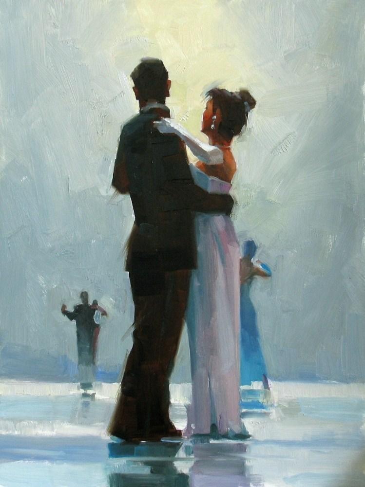 """""""Dance Me to the End of Love"""" original fine art by Qiang Huang"""