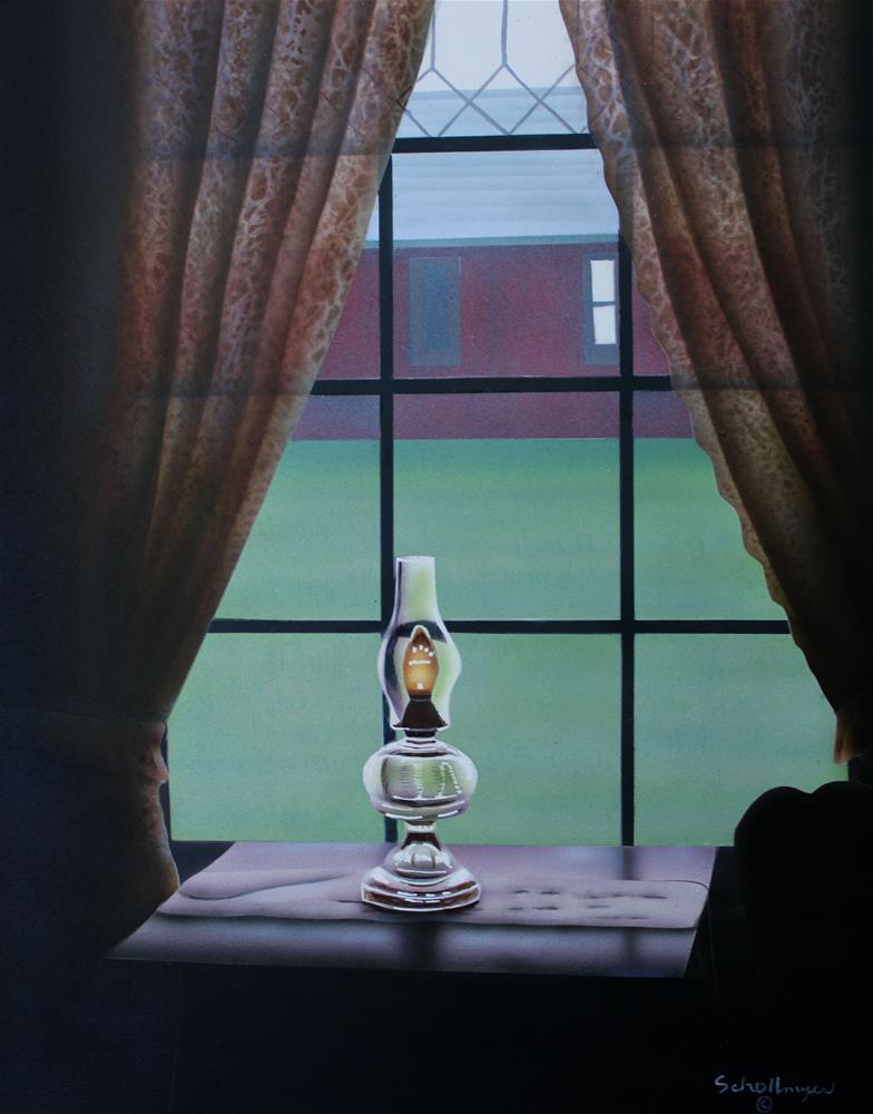 """Window with Light"" original fine art by Fred Schollmeyer"