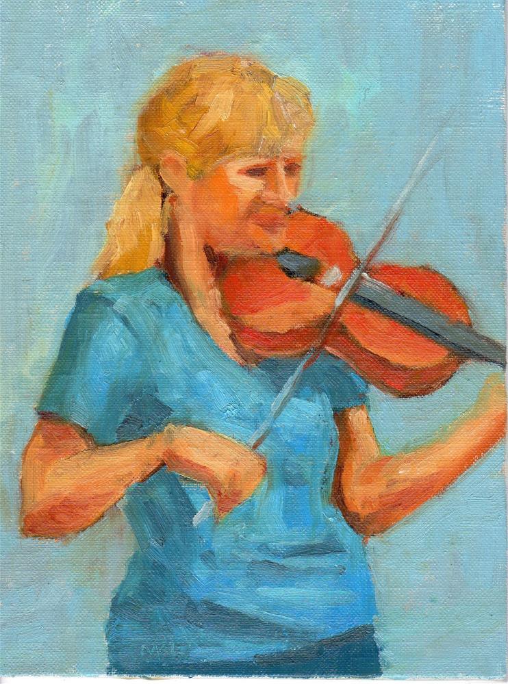 """The Violinist, 2014"" original fine art by Marlene Lee"