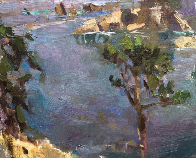 """Seascape California 01"" original fine art by Roos Schuring"