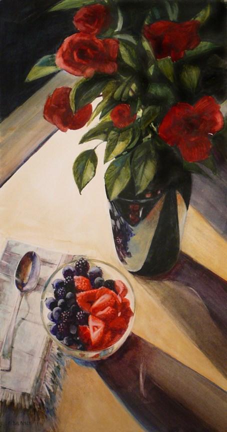 """Watercolor: Garden Harvest"" original fine art by Belinda Del Pesco"