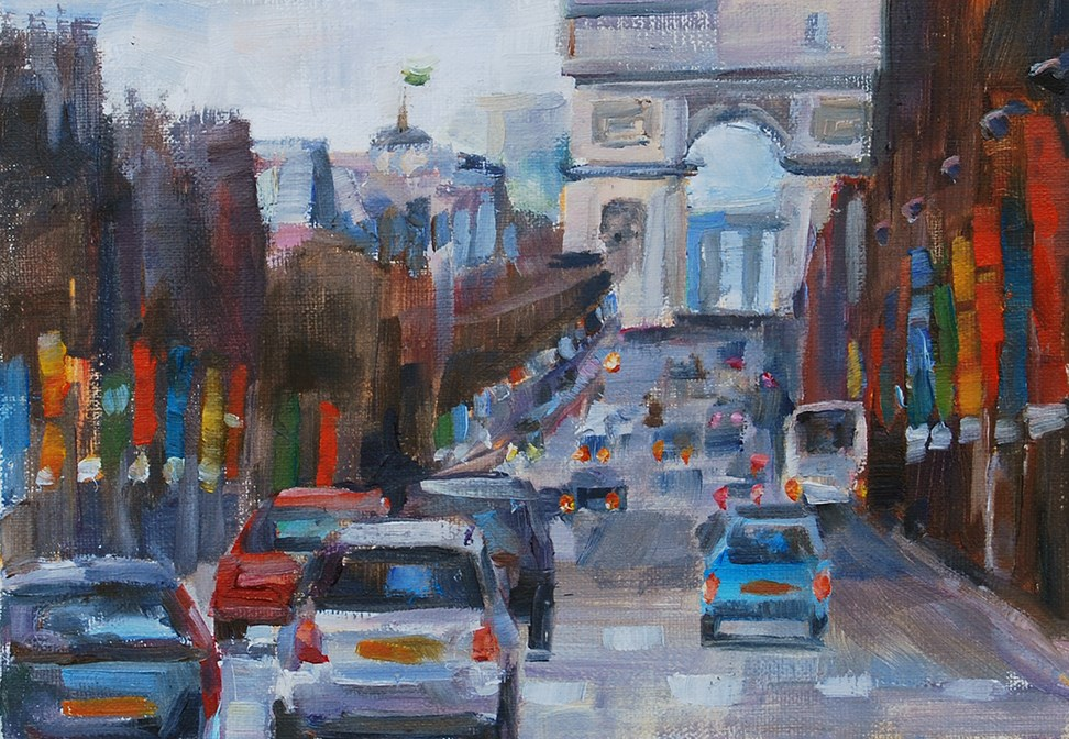 """On My Way"" original fine art by Carol DeMumbrum"