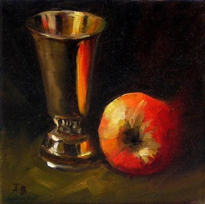 """Apple"" original fine art by Irina Beskina"