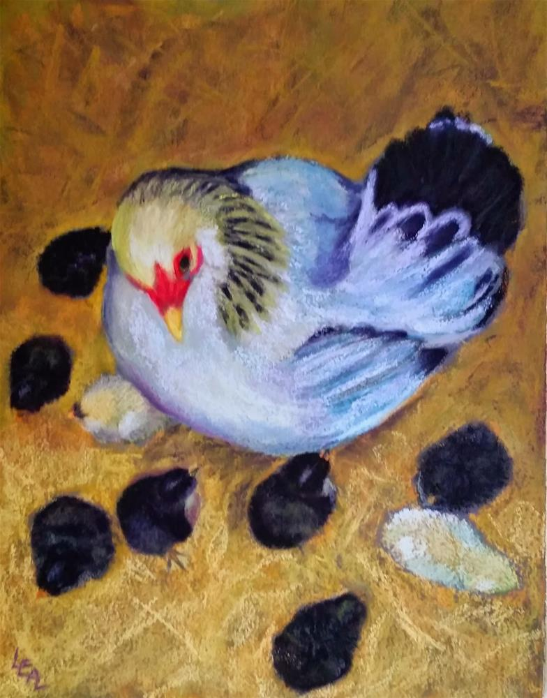 """""""Everywhere a Chick Chick"""" original fine art by Anna Lisa Leal"""
