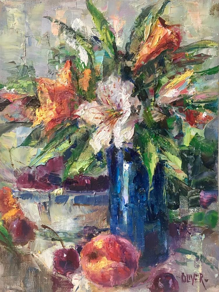 """""""Why I Like To Fracture Plus A Still Life."""" original fine art by Julie Ford Oliver"""