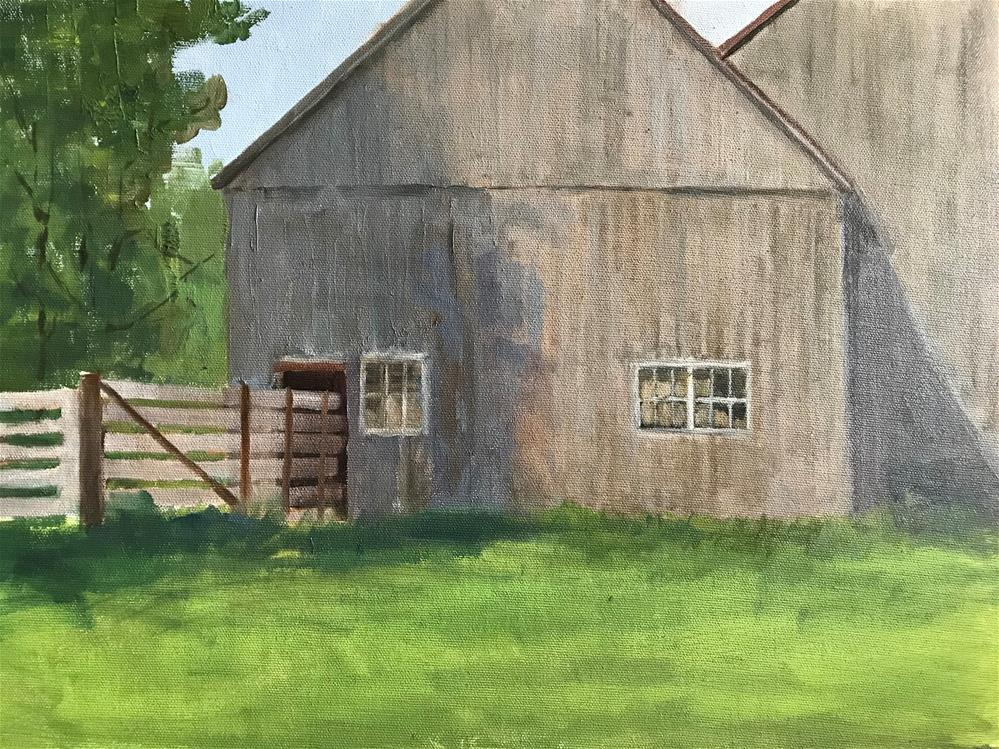 """Back door on the barn"" original fine art by Betty Argiros"