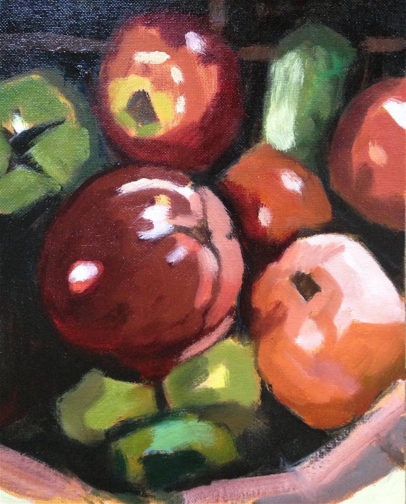 """Bowl of Plenty"" original fine art by Pamela Hoffmeister"