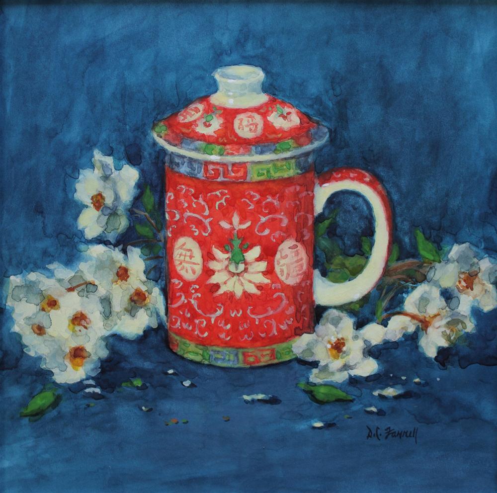 """""""Oolong"""" original fine art by Donna C Farrell"""