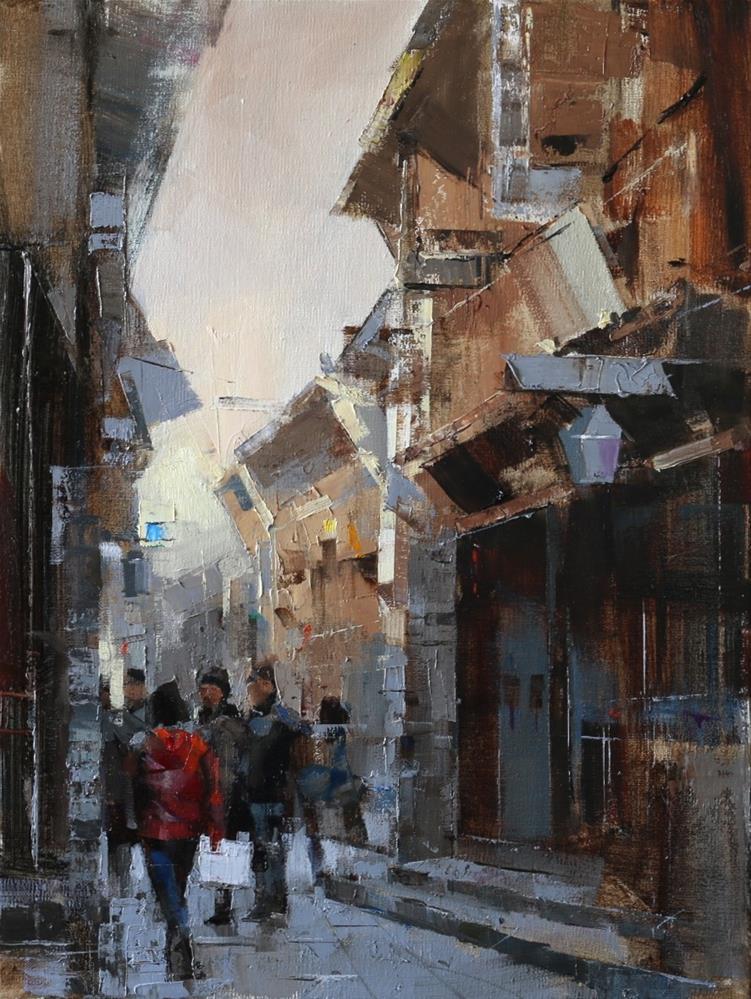 """""""Wuzhen Street 1"""" original fine art by Qiang Huang"""