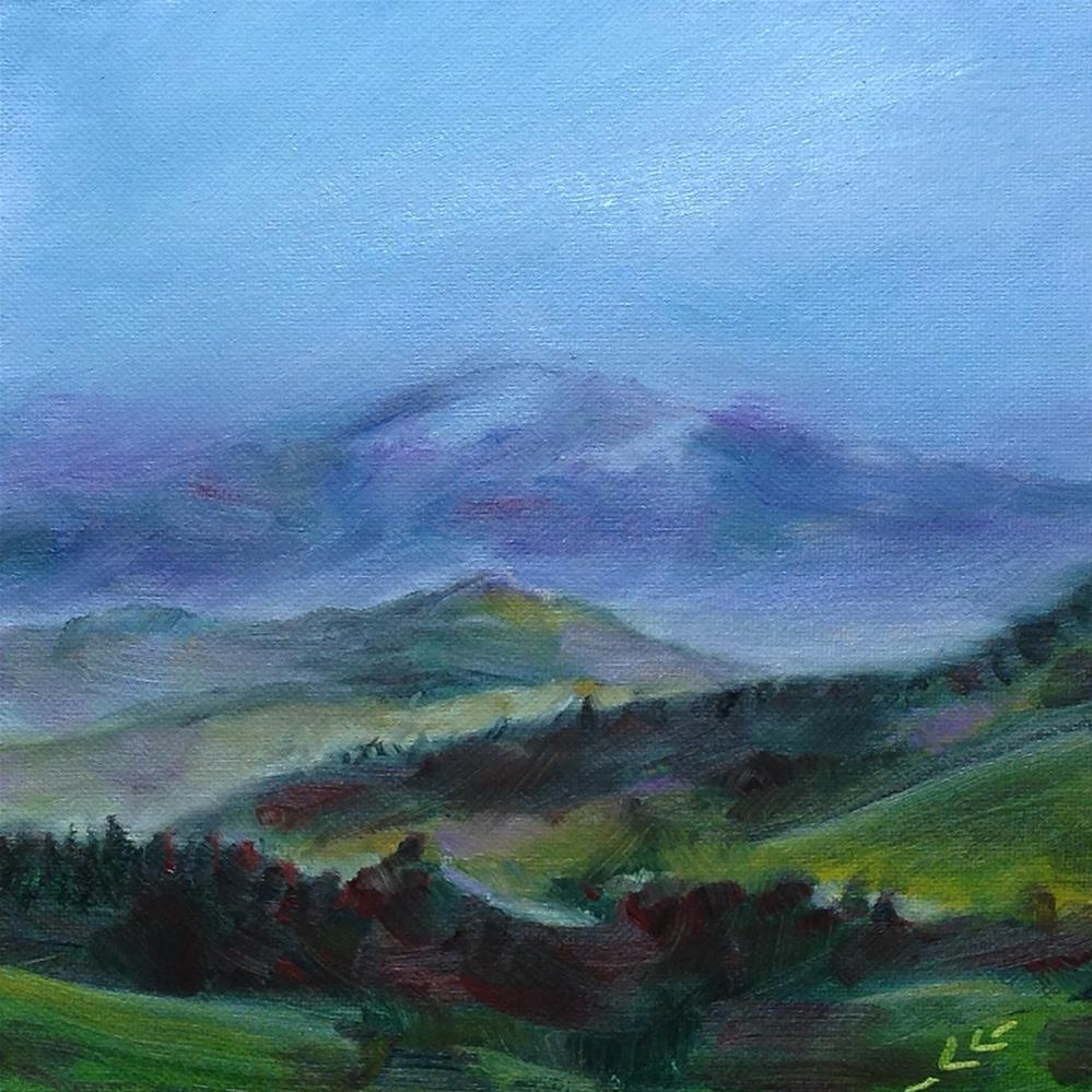 """""""Fog in the Mountains"""" original fine art by Linda Lowery"""