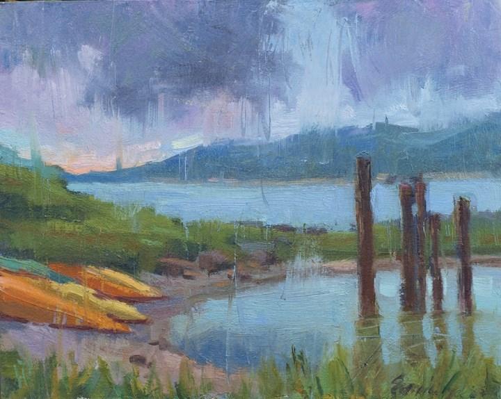 """""""Rain again"""" original fine art by Emiliya Lane"""
