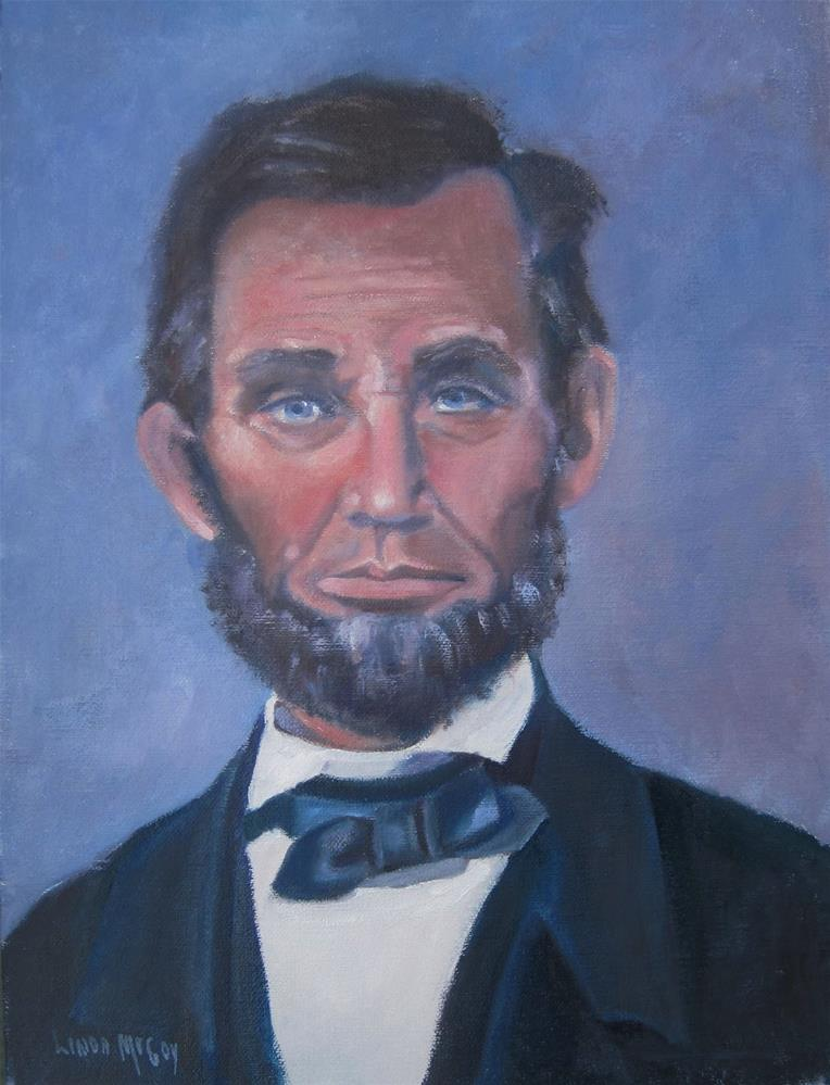 """Abraham Lincoln"" original fine art by Linda McCoy"